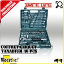 Coffret cliquet VANADIUM 46 PCS