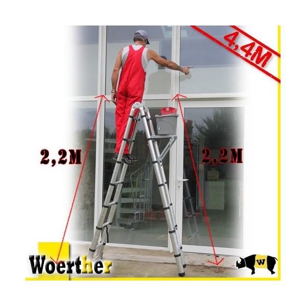 pack 3 chelles ecabeaux t lescopiques double fonction 4 4m. Black Bedroom Furniture Sets. Home Design Ideas