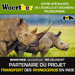 Woerther s'engage pour la protection des Rhinocéros Indiens